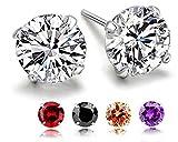 Best Earrings Gifts For Girls Womans - Stud Earrings, 5 Pairs, S925 Sterling Silver Earrings Review