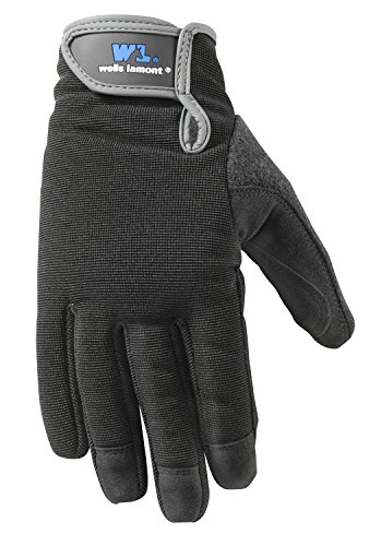 WELLS LAMONT Synthetic Leather Work Gloves, High Dexterit...