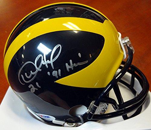 Desmond Howard Autographed Michigan Wolverines Mini Helmet