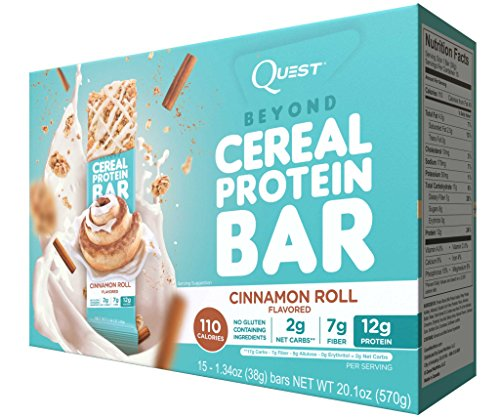Quest Nutrition Quest Beyond Cereal Bar Cinnamon Roll 15-1.34oz Bars (Quest Cinnamon Roll Protein Bar compare prices)