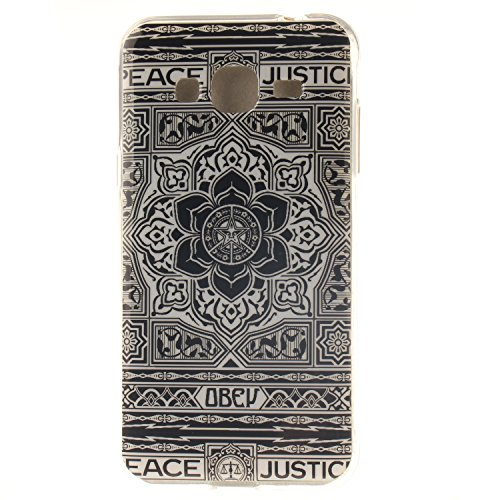 De Résistant Mandala Arrière Hozor Souple Motif Téléphone En TPU Samsung Slim Galaxy Cas Transparent De 2016 Silicone Couverture Scratch J310 Antichoc Bord Protection J3 Cas Fit Peint OwBUqFwC