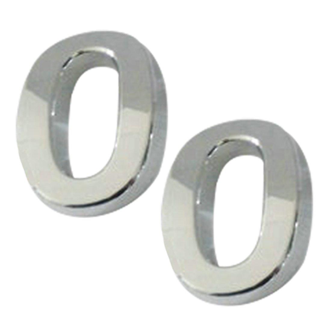 adresse voiture Plaque autocollante en chrome plaqu/é num/éro 0 chiffres compatible pour num/éro de porte