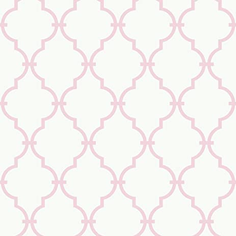 york wallcoverings ys9101 graphic trellis wallpaper white soft pink - Trellis Wall Paper