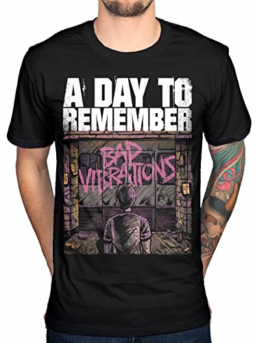 A Day To Remember Bad Vibrations Men's T-shirt Black (X-Large)