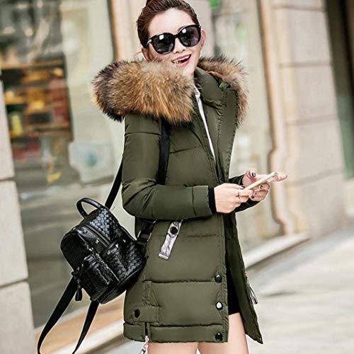 ocio aire Marcas con capucha chaqueta de Parka Elegante con Abrigo HHfwz