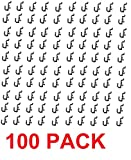 Peg Board Hook Kit Garage Tool Storage Pegboard 100 pieces J Hook Style-BLACK-Plastic