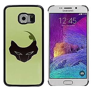 Be Good Phone Accessory // Dura Cáscara cubierta Protectora Caso Carcasa Funda de Protección para Samsung Galaxy S6 EDGE SM-G925 // Abstract Face