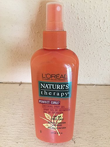 Loreal Natures Therapy Perfect Curls Defining Spray Gel for Dry, Frizzy Curls 6 Oz/177ml
