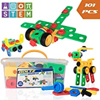 USA Toyz STEM Building Toys for Kids– 101pk BOLTZ...