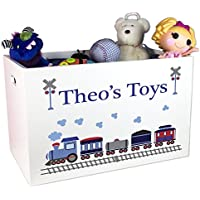 Boys Personalized Train Toy Box
