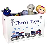 Boy's Personalized Train Toy Box