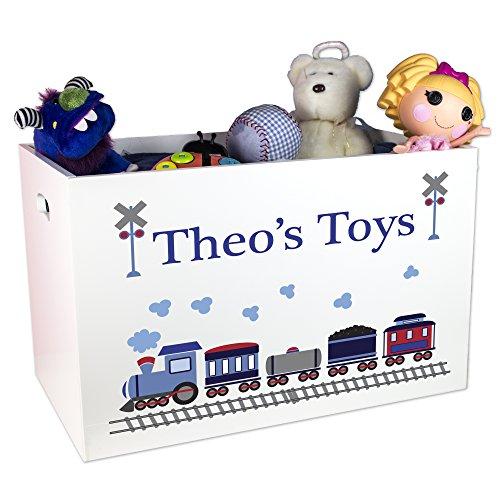 Boy's Personalized Train Toy Box by MyBambino