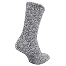 FLOSO Mens Warm Slipper Socks With Rubber Non Slip Grip
