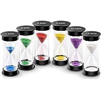 EMDMAK Sand Timer, Acrylic Hourglass Timer Colorful Sandglass Timer 1 min/2 mins/3 mins/5 mins/10 mins/15 mins Sand…