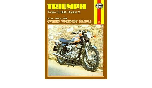 TRIUMPH Trident BSA A75 Rocket 1969-1975 Haynes Manuale Officina Servizio Riparazione