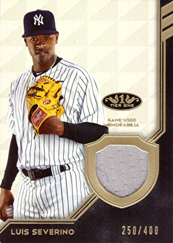 2018 Topps Tier One Relics #T1R-LS Luis Severino Game Worn Yankees Jersey Baseball Card - Only 400 made! ()
