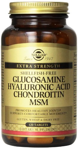 Solgar Glucosamine Hyaluronic Acid Chondroitin MSM Tablets, 120 Count