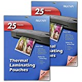 2 Pack - Nuova 5 Mil Thermal Laminating Pouches 5 x 7-Inches, Photo Size, 25-Sheet