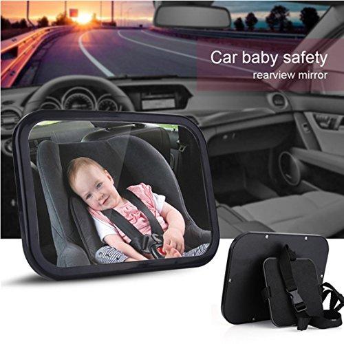 Miroir Auto Bébé PLUIESOLEIl avez Une Rotation 360°100% incassable Pour Bébé Miroir de Voiture