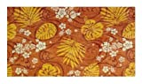 Trade Winds Tropical Floral Coral Orange - 2'x3' Custom Stainmaster Premium Nylon Carpet Area Rug ~ Bound Finished Edges