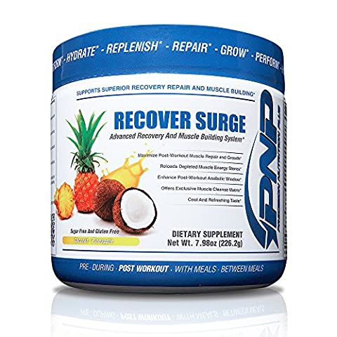 RECOVER SURGE - 7 Stage Recovery and Muscle Builder - Post Workout BCAA, Creatine Blend, L-Glutamine Blend, Muscle Cleanse Matrix and Muscle Reload Matrix - (Stages Of Recovery)