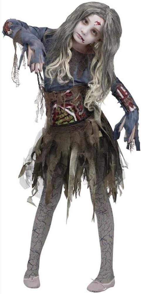 Fun World Disfraz de Halloween Zombie para niñas, tamaño Grande ...