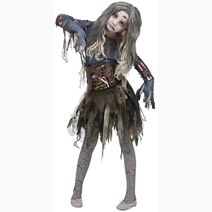Halloween Zombie Costumes For Girls.Fun World Zombie Girl Costume