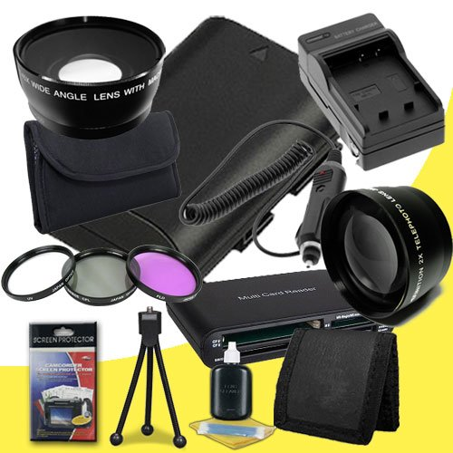 Canon EOS 70D DSLR Camera with 18-55mm STM f/3.5-5.6 Lens LP-E6 Lithium Ion Replacement Battery and External Rapid Charger + 58mm 3 Piece Filter Kit + 58mm 2x Telephoto Lens + 58mm Wide Angle Lens + Multi Card USB Reader + Memory Card Wallet + Deluxe Star by DavisMAX