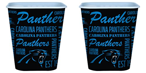 Carolina Panthers 3 Liter Reusable Plastic Snack Bucket 2 Pack