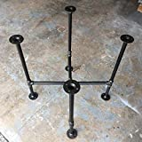Industrial Pipe Metal Round Square Table Base