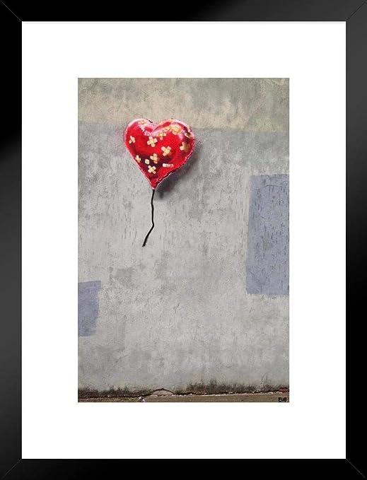 Framed Canvas print Banksy Urban flower throw stencil  Street Art  painting