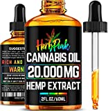 Hemp Oil for Pain, Stress & Anxiety Relief - 20000MG - Extreme Potency & Efficiency - Made in USA - Anti Inflammatory & Immune Support - 100% Natural & Safe - Better Sleep & Mood - Rich in Omega 3