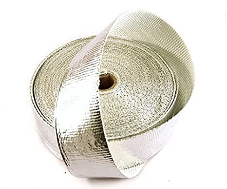 Aluminized High Temperature Reflective Intercooler Header Exhaust Pipe Insulation Wrap Roll 2 INCH WIDE X 50  sc 1 st  Amazon.com & Amazon.com: Aluminized High Temperature Reflective Intercooler ...