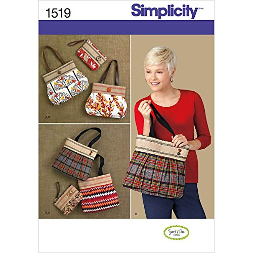 Simplicity 1519 Clutch and Handbag Sewing Patterns, One Size Only ()