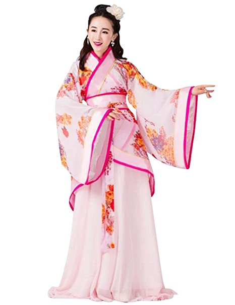 Amazon.com: springcos las mujeres chino Folk Disfraces Hanfu ...