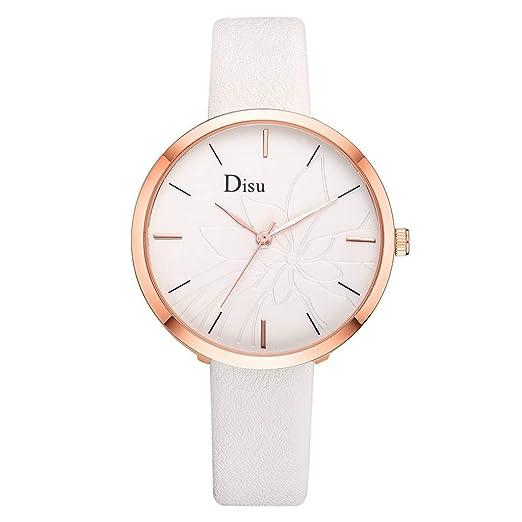 Reloj Mujer Correa De Cuero Reloj Reloj Cuarzo Analógico Lujo Moda Dama Floración La Flor Patrón Watches: Amazon.es: Relojes