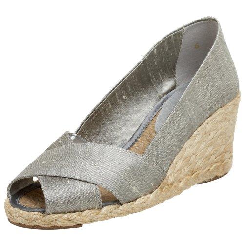 Ralph Women's Silver Sandal Cecilia Lauren Lauren Wedge 6wnqdppR