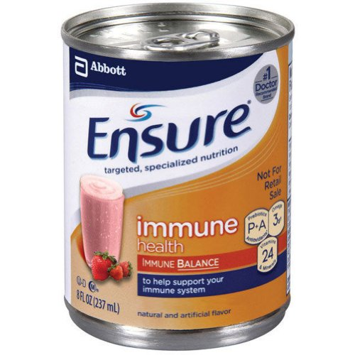 Ensure Immune Shake - Strawberry Flavor - 8 oz. cans - 3 cases of 24 - Model 50648 by Abbott