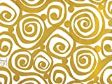 Pack Of 1, Golden Swirl 24'' X 417' Roll Classic Designs Gift Wrap For 175 -200 Gifts Perfect For Weddings, Graduation, Christmas & Valentine'S Day Made In USA