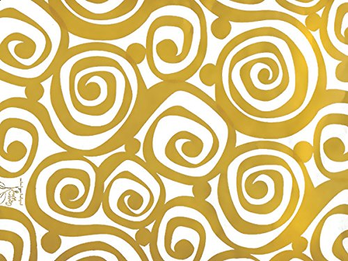Pack Of 1, Golden Swirl 24'' X 417' Roll Classic Designs Gift Wrap For 175 -200 Gifts Perfect For Weddings, Graduation, Christmas & Valentine'S Day Made In USA by Generic
