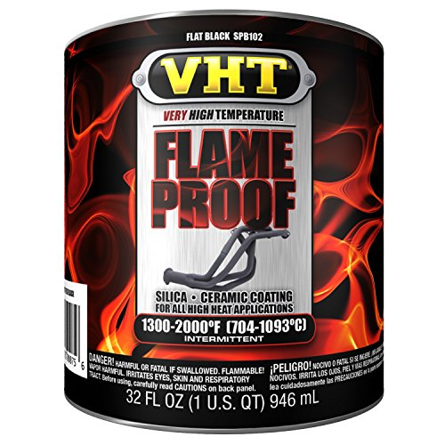(VHT SPB102 Flameproof Coating Flat Black Quart, 32. Fluid_Ounces)
