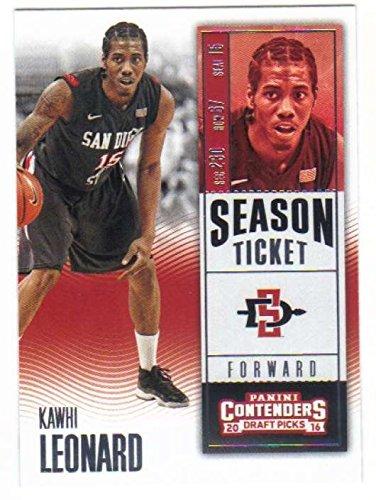 2016-17 Panini Contenders Draft Picks Season Ticket #54 Kawhi Leonard San Diego State Aztecs Collegiate Basketball Card