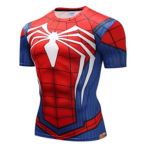 ZOOTOP BEAR Spiderman 3D Shirts Men Compression Short Sleeve T-Shirts Superhero Quick Dry