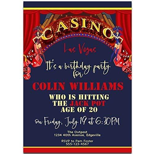 Amazon Com Las Vegas Casino Birthday Party Invitations Handmade