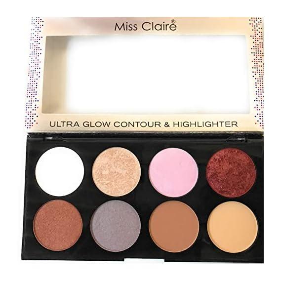 Miss Claire Miss Claire Ultra Glow Contour & Highlighter Makeup Palette 3, Multi, 16 Grams, Multicolor, 16 g