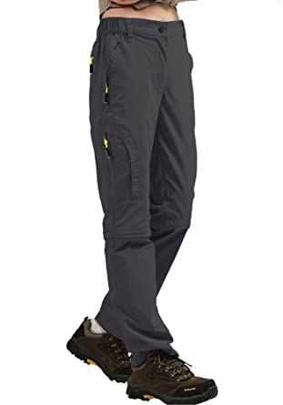 116e6818a45e7 Amazon.com  Women s Convertible Athletic Quick Drying Lightweight Outdoor  Hiking Travel Cargo Pants  4409  Clothing