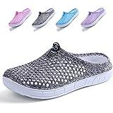 Garden Clogs Shoes Womens Mens Mesh Quick Drying Beach Sandals Grey 36