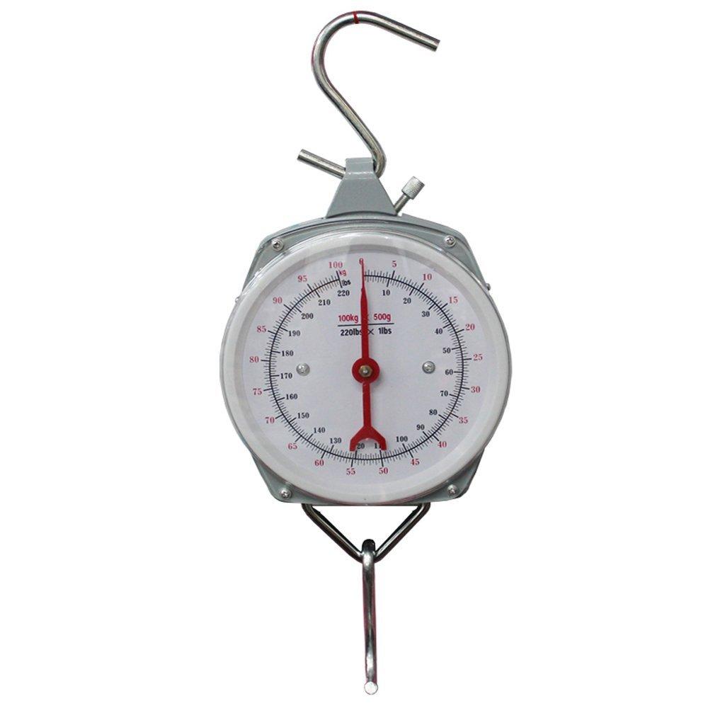 Fishing Hunting Kitchen Metal Hanging Spring Mechanical Dial Scale 100kg/220lb Dealhola