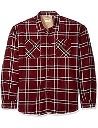 Authentics Men's Long Sleeve Sherpa Lined Denim Shirt