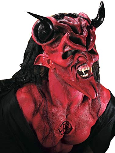 Halloween Devil Mask (Rubie's Costume Co Reel F/X Latex Dark Lord)